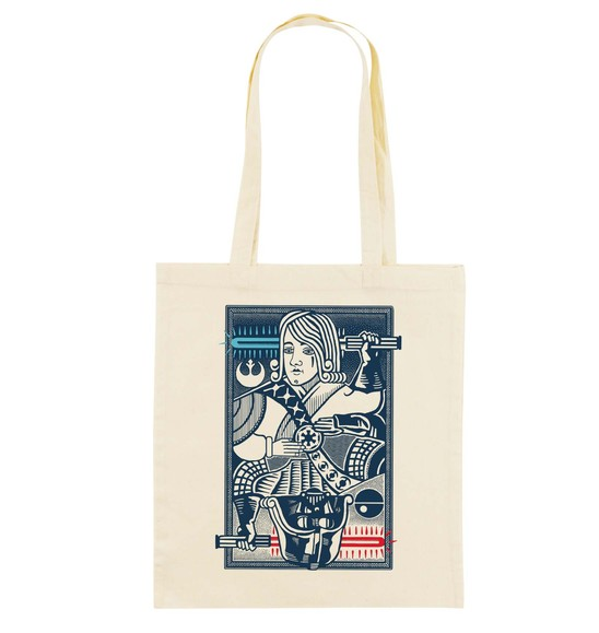 Tote Bag King Of Darkside de couleur Crème