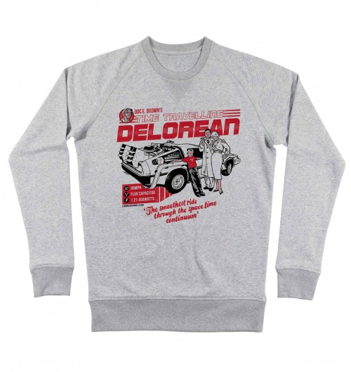Sweat 100% coton bio Delorean