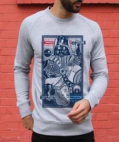 Sweatshirt à col rond Dark Vador vs Anakin par Neon Mystic