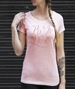 T-shirt à col rond Femme La Vie en Rose par Flowhynot