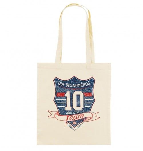 Tote Bag Numéro 10 de couleur Crème