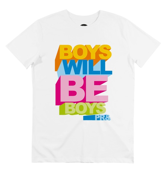 T-shirt pour Homme Boys Will Be Boys de couleur Blanc