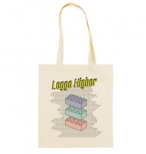 Tote Bag Leggo Higher de couleur Crème
