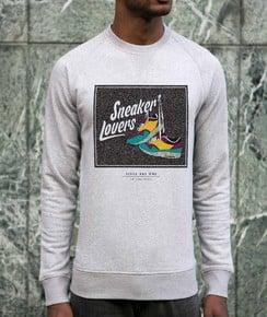 Sweatshirt à col rond Sneaker Lovers par Smiling Paris