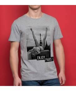 T-shirt à col rond Enjoy Paris de la marque Catchy