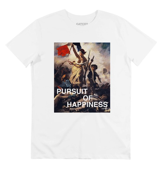Tee-shirt pour Homme Pursuit Of Happiness de couleur Blanc