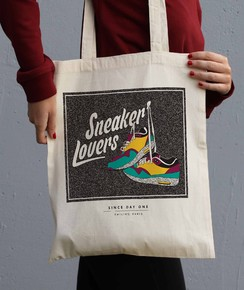 Tote Bag Sneakers Lovers de la marque Smiling Paris