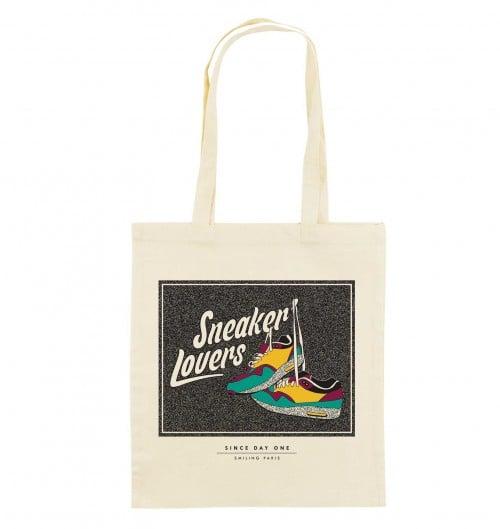 Tote Bag Sneakers Lovers de couleur Crème