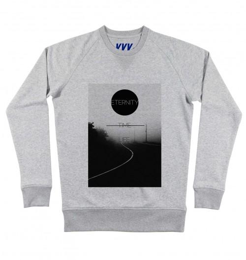 Sweatshirt pour Homme Vie Eternelle de couleur Gris chiné