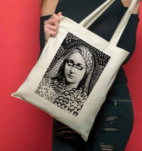 Tote-Bag pour Femme Big Bang de couleur Crème