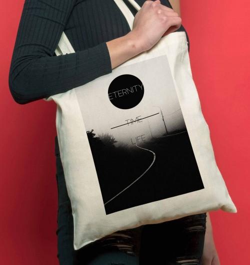 Tote Bag pour Femme Vie Eternelle de couleur Crème