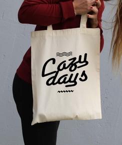 Tote Bag Lazy Days par Hexagone