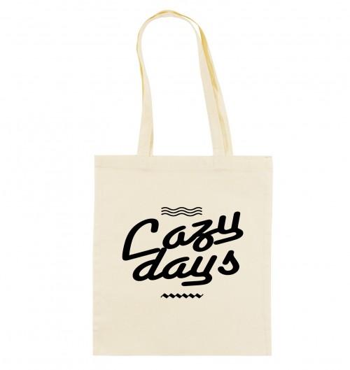 Tote Bag pour Femme Lazy Days de couleur Crème