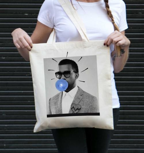 Tote Bag pour Femme Kanye West de couleur Crème