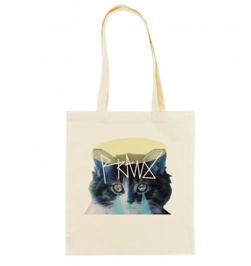 Tote Bag pour Femme Chat Mystique de couleur Crème
