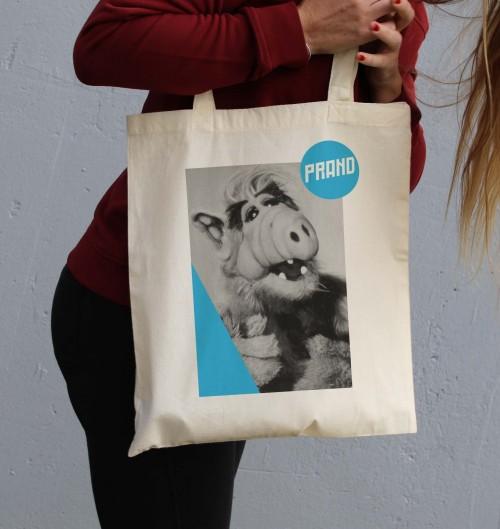 Tote Bag pour Femme ALF de couleur Crème