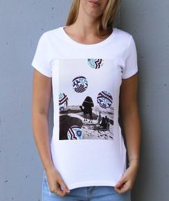 T-shirt à col rond Femme Désert & Motifs par Aecho