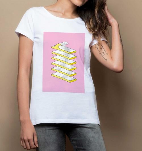 T-shirt pour Femme Femme Houle de couleur Blanc