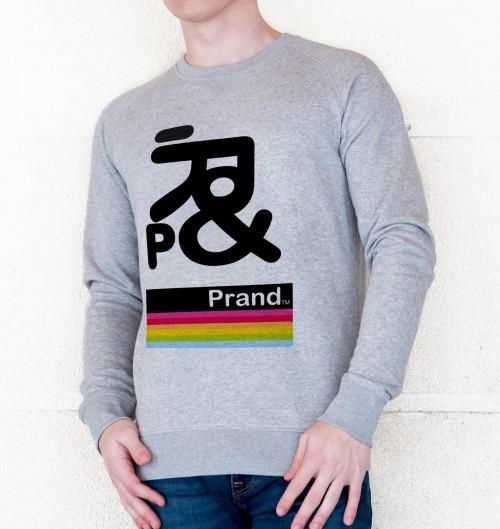 Sweat pour Homme Prand BDK de couleur Gris chiné