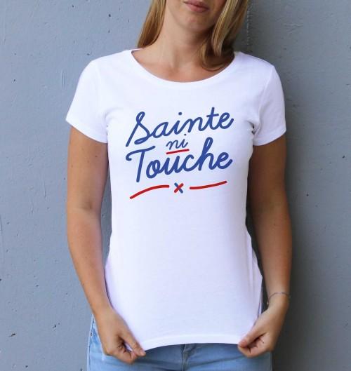T-shirt pour Femme Femme Sainte Ni Touche de couleur Blanc