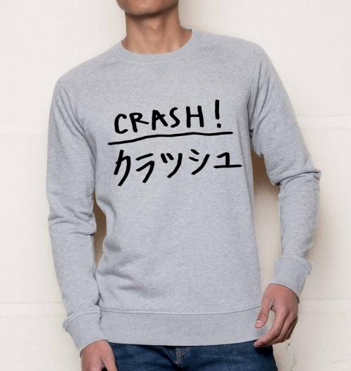 Sweat pour Homme Crash de couleur Gris chiné