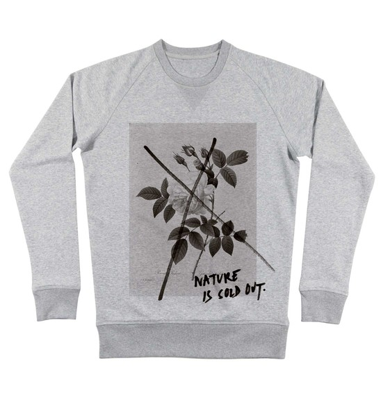 Sweat pour Homme Nature is Sold Out de couleur Gris chiné
