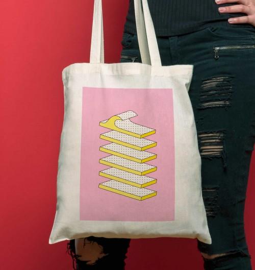 Tote Bag pour Femme Houle de couleur Crème