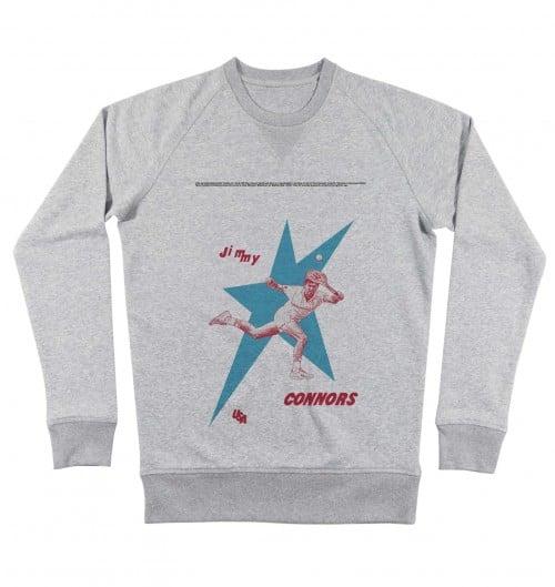 Sweatshirt pour Homme Jimmy Connors de couleur Gris chiné