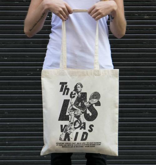 Tote Bag pour Femme Andre Agassi de couleur Crème