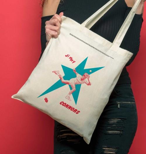 Tote Bag pour Femme Jimmy Connors de couleur Crème