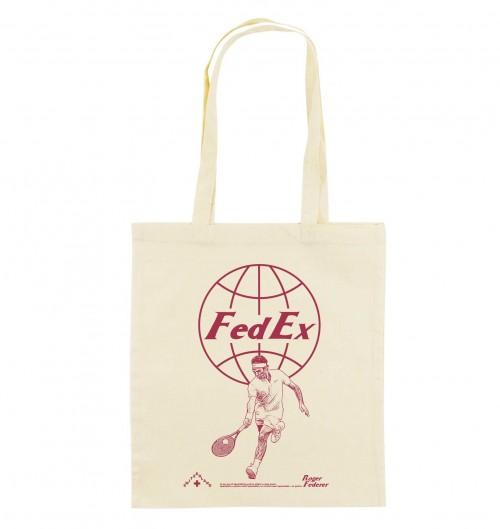 Tote Bag pour Femme Roger Federer de couleur Crème