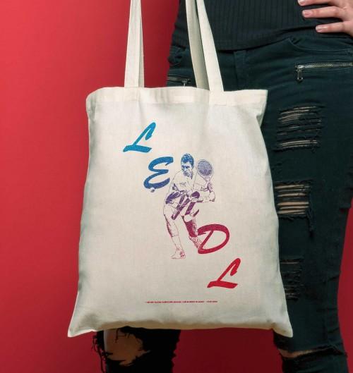 Tote Bag pour Femme Ivan Lendl de couleur Crème