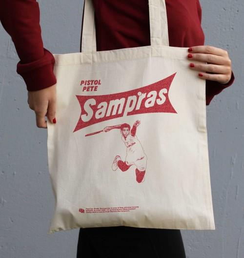 Tote Bag pour Femme Pete Sampras de couleur Crème