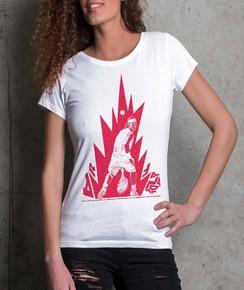 T-shirt à col rond Femme Rafael Nadal de la marque Love Means Nothing
