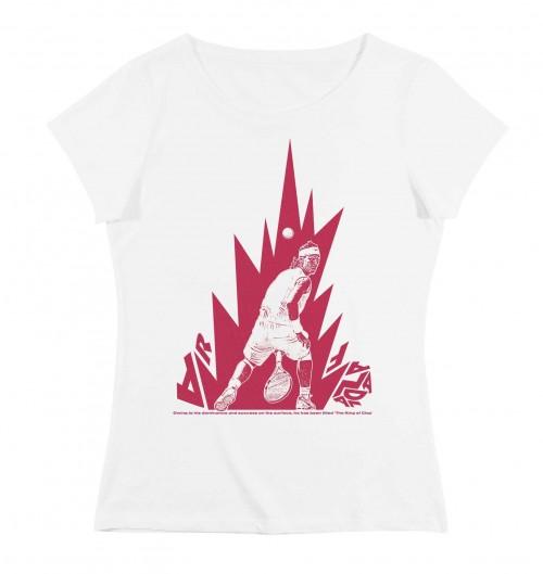 T-shirt pour Femme Femme Rafael Nadal de couleur Blanc