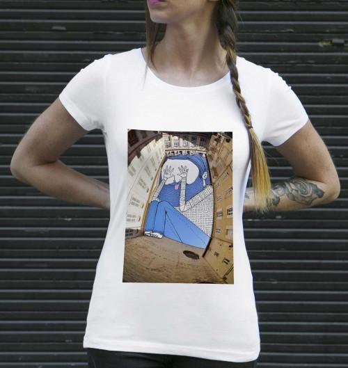 T-shirt pour Femme Femme Cache-Cache à Avignon de couleur Blanc