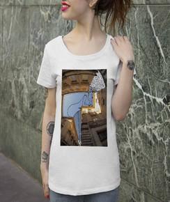 T-shirt à col rond Femme Pin-Up D'Avignon par Thomas Lamadieu