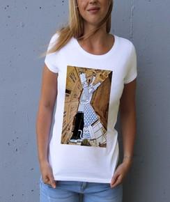 T-shirt à col rond Femme Ciel d'Avignon par Thomas Lamadieu