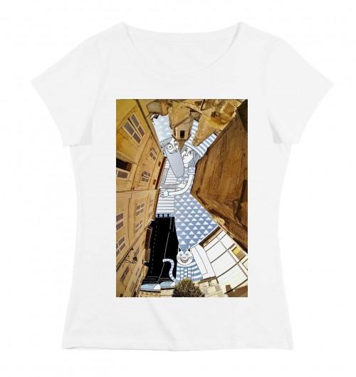 T-shirt pour Femme Femme Ciel d'Avignon de couleur Blanc