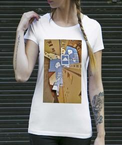T-shirt à col rond Femme Les Peintres de Berlin par Thomas Lamadieu