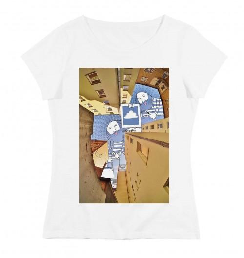 T-shirt pour Femme Femme Les Peintres de Berlin de couleur Blanc