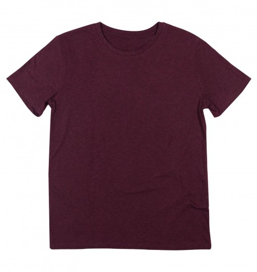 7fac275cf902b T-shirt Homme Bordeaux Chiné
