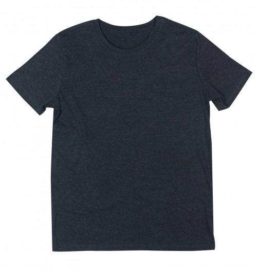 T-shirt pour Homme Homme Noir Chiné de couleur Noir chiné