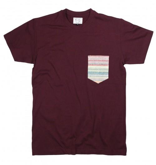 T-shirt pour Homme à Poche Azur de couleur Blanc