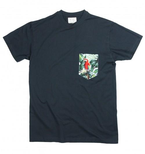 Tshirt pour Homme à Poche Perroquets de couleur Gris chiné