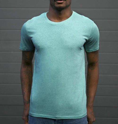 T-shirt Homme Vert Chiné