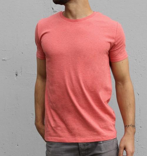 T-shirt pour Homme Homme Rouge Chiné de couleur Rouge chiné