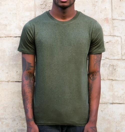 T-shirt Homme Kaki Chiné