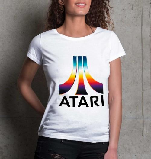 T-shirt pour Femme Femme Atari Couleur de couleur Blanc