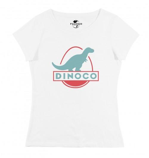 T-shirt pour Femme Femme Dinoco Cars de couleur Blanc